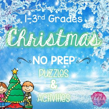 Christmas Math Literacy Puzzles Activities Worksheets 1st Grade 2nd ...
