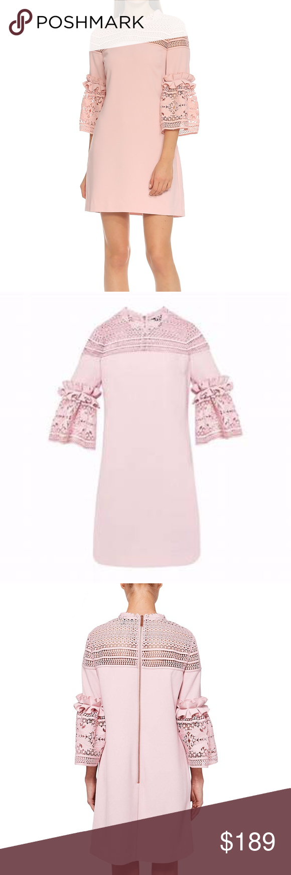 e7a296911 Ted Baker Lucila Lace Bell Sleeved Tunic Dress Ted Baker Lucila Lace Bell  Sleeved Tunic Dress