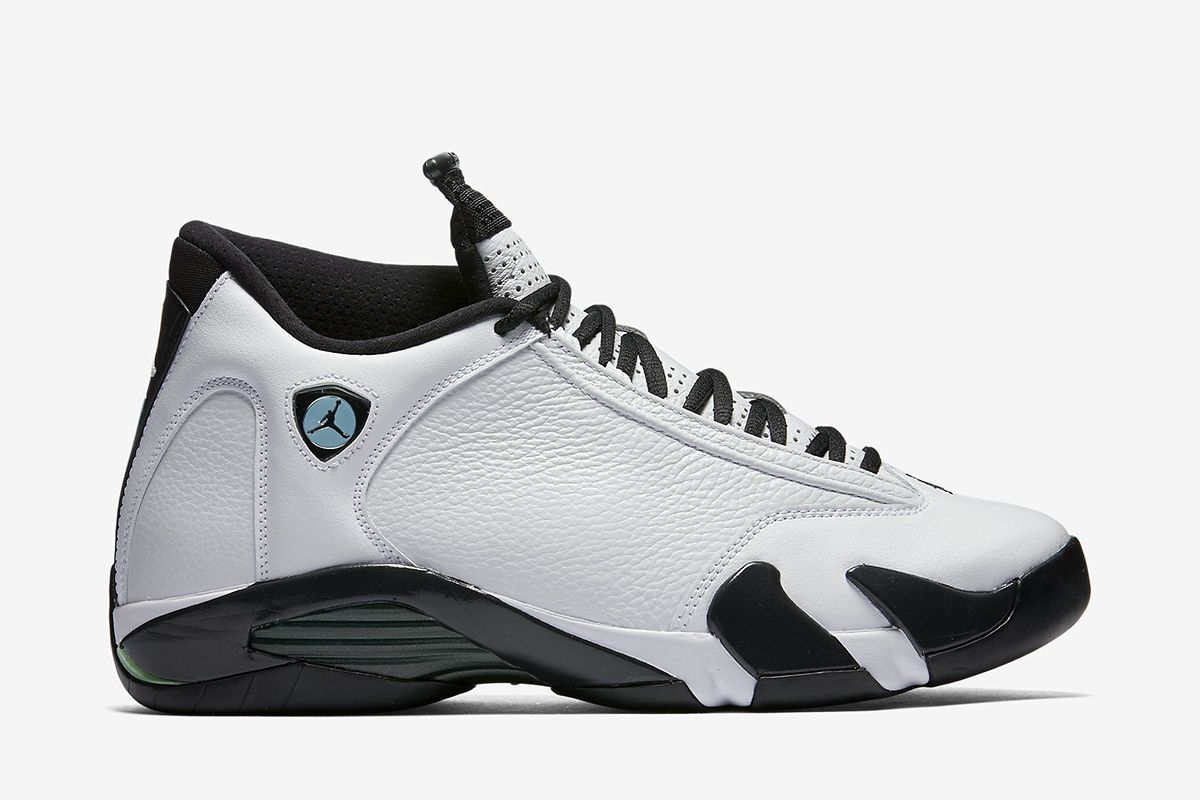 super popular ca805 0f735 ... italy air jordan 14 retro mens shoe white oxidized green legend blue  black f277e 3cbf0