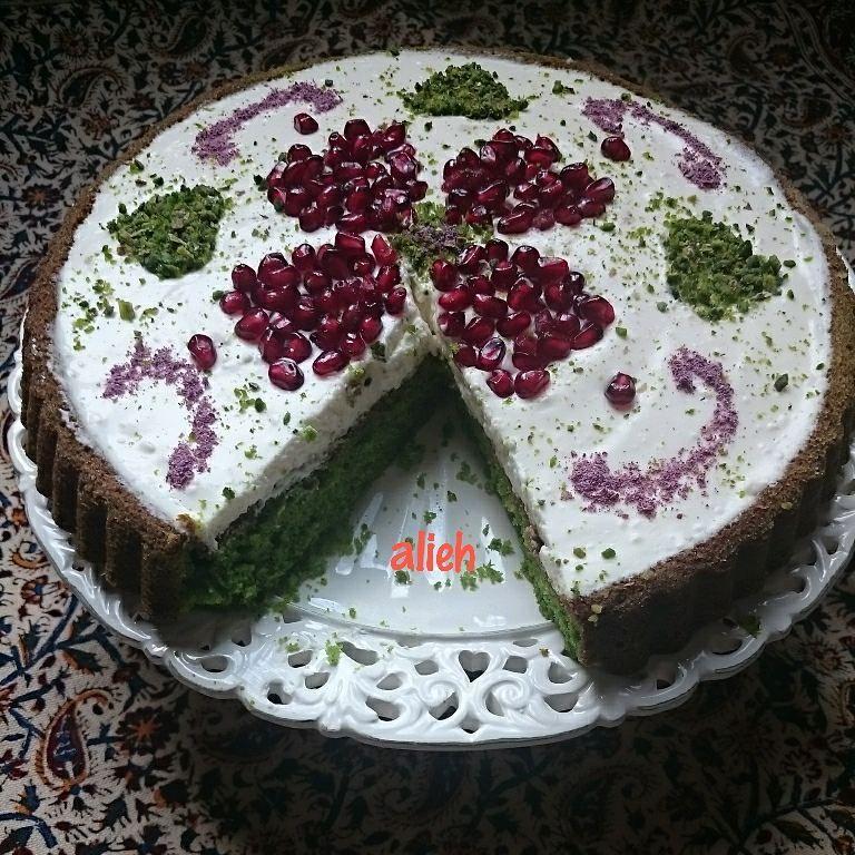 119 Likes 11 Comments Alieh Shirini Deser On Instagram چيز كيك اسفناج مواد لازم كيك تخم مرغ ٢ عدد روغن مايع ١ ٢ پيمانه شكر ١ ٢ Desserts Deserts Food