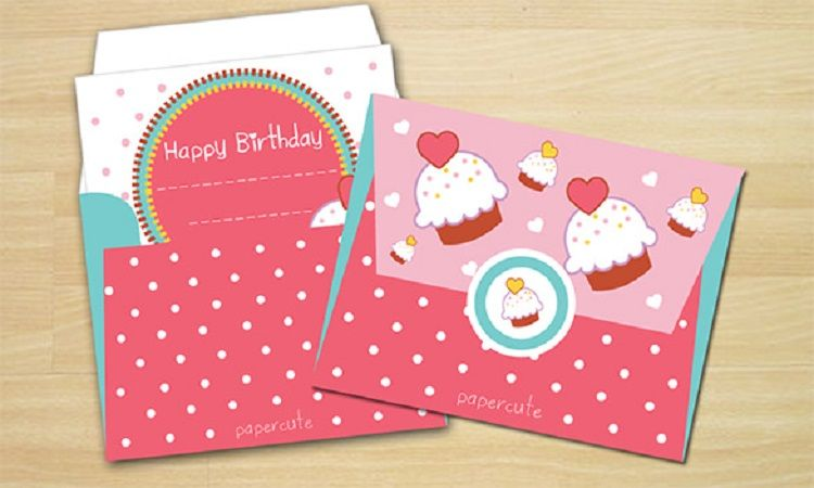 Birthday Invitation Card Envelope Design Free