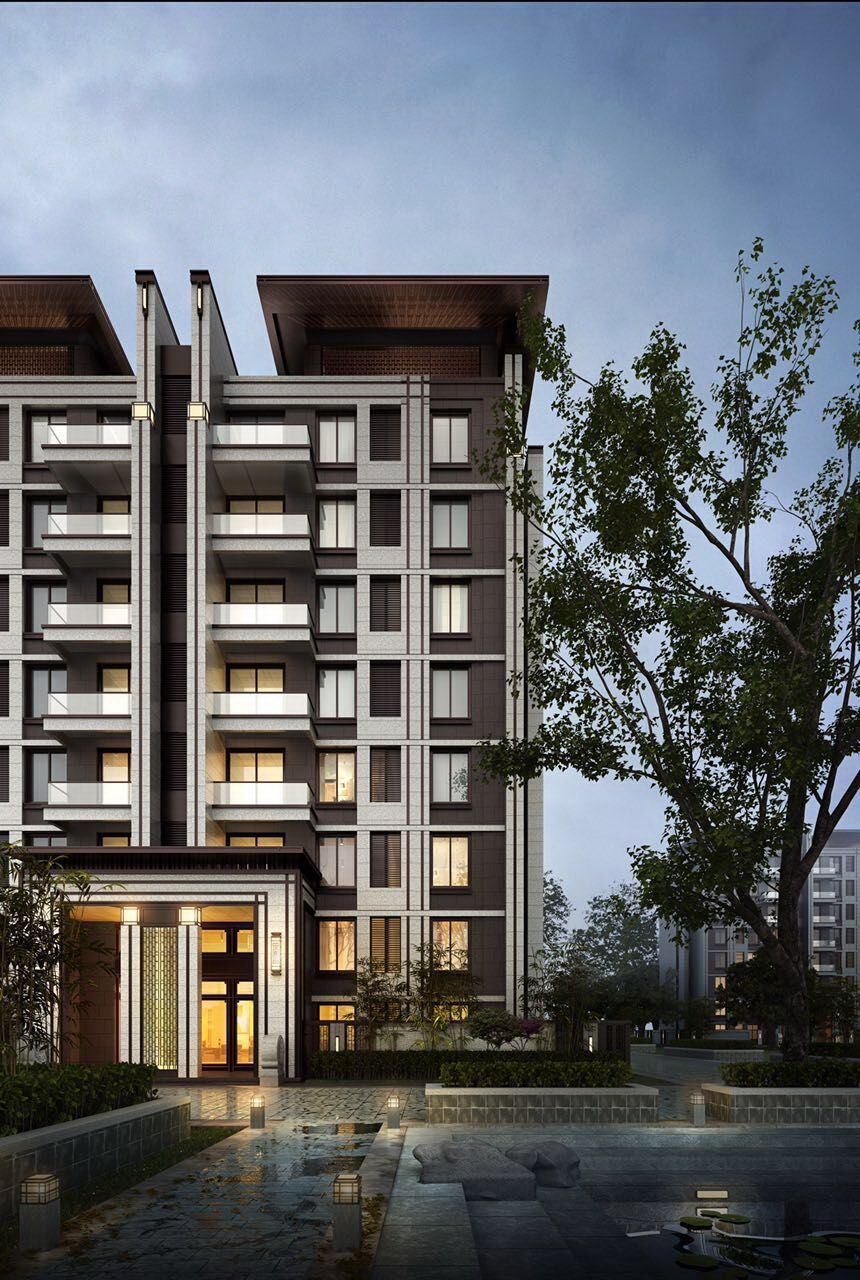 Facade Design Exterior 56e3a9cdd9841897a02ab4af85d9022c Jpg 860 1280 Residential Architecture Modern Chinese