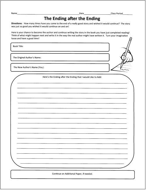 Free Graphic Organizers for Teaching Literature and Reading - book report template for high school