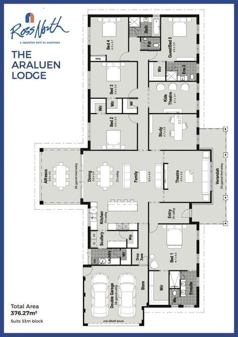 The Araluen Lodge Single Storey Home Floorplan Ross North Homes Home Design Floor Plans New House Plans Dream House Plans
