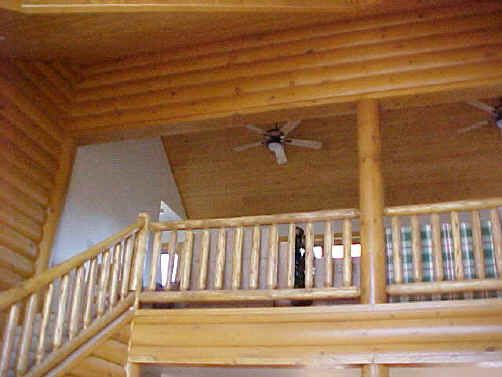 Meadow Valley Log Homes Siding White Cedar Railings Can Be Attached To 6 Posts Or Our 9 Round Logs