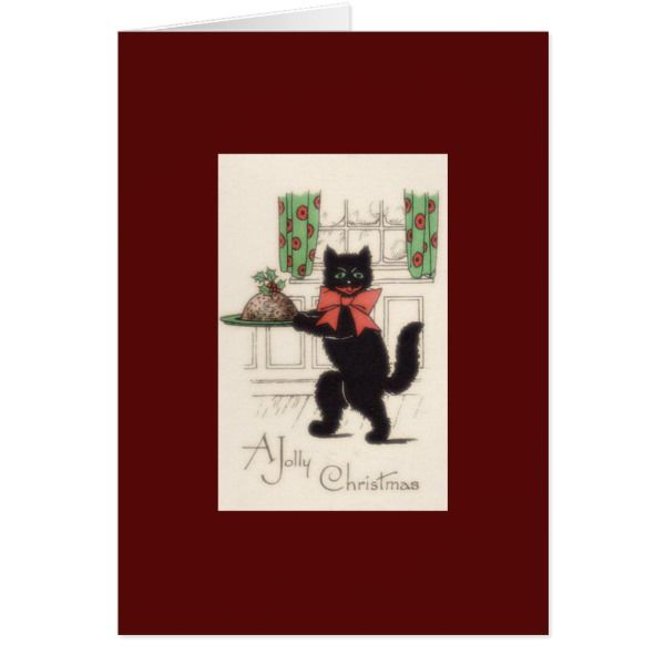 A Jolly Christmas Cat Christmas Greeting Card Christmas greeting cards