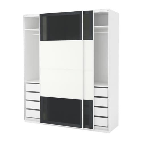 Armoire-penderie PAX blanc, Uggdal Färvik en 2018 BLANC ET NOIR - Armoire Ikea Porte Coulissante