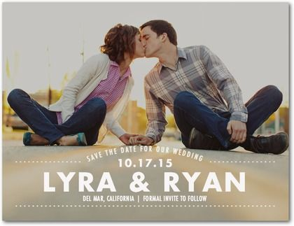 I could take this photo and we could use these save the date cards!?!  They are so cute!