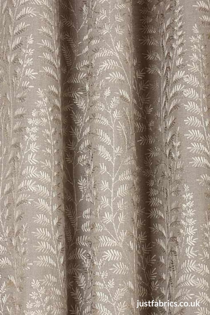 Luxury Fabric Shower Curtain Damask Jacquard Shabby Chic High Quality Silver Tan