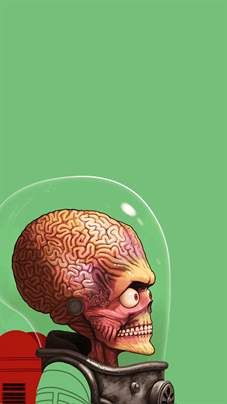 Mars Attacks Phone Wallpaper Mars Attacks Retratos Y Tim