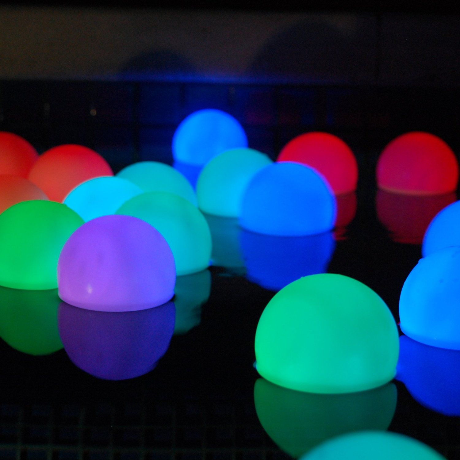 Amazon.com : Set Of 12 Mood Light Garden Deco Balls (Light Up Orbs