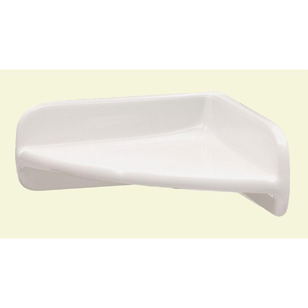 Lenape 7 In X 7 In Ceramic Corner Shelf In White 170401 Corner