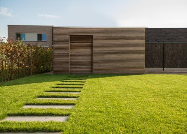 Tuinhuis in padoek tuin kantoor pinterest garden garden deco