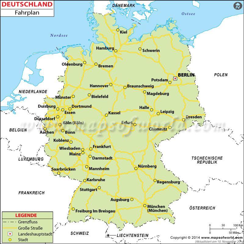 Karibik Karte Deutsch.Deutschland Straßenkarte Tanulás Karte Deutschland