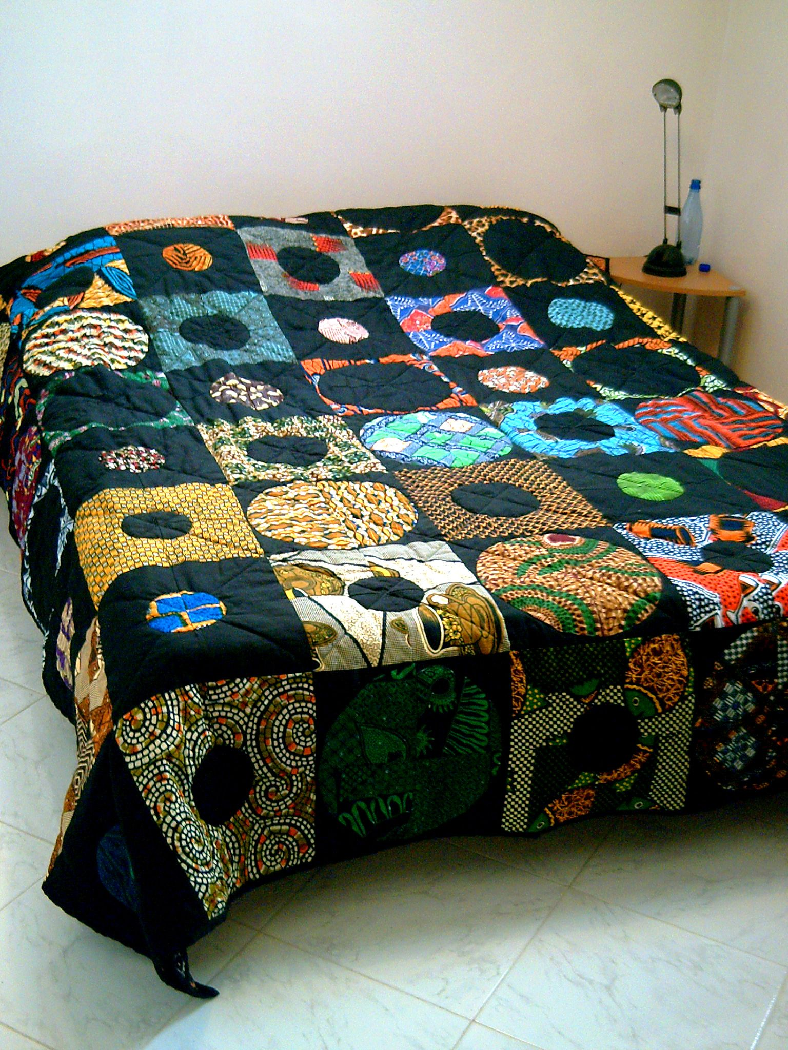 couvre lit mes oeuvres textiles pinterest africans wax and african interior. Black Bedroom Furniture Sets. Home Design Ideas