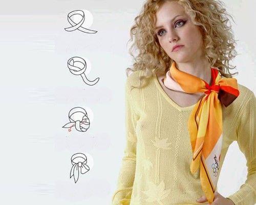 Как красиво завязать платок на шее: 34 фото идеи, видео ...