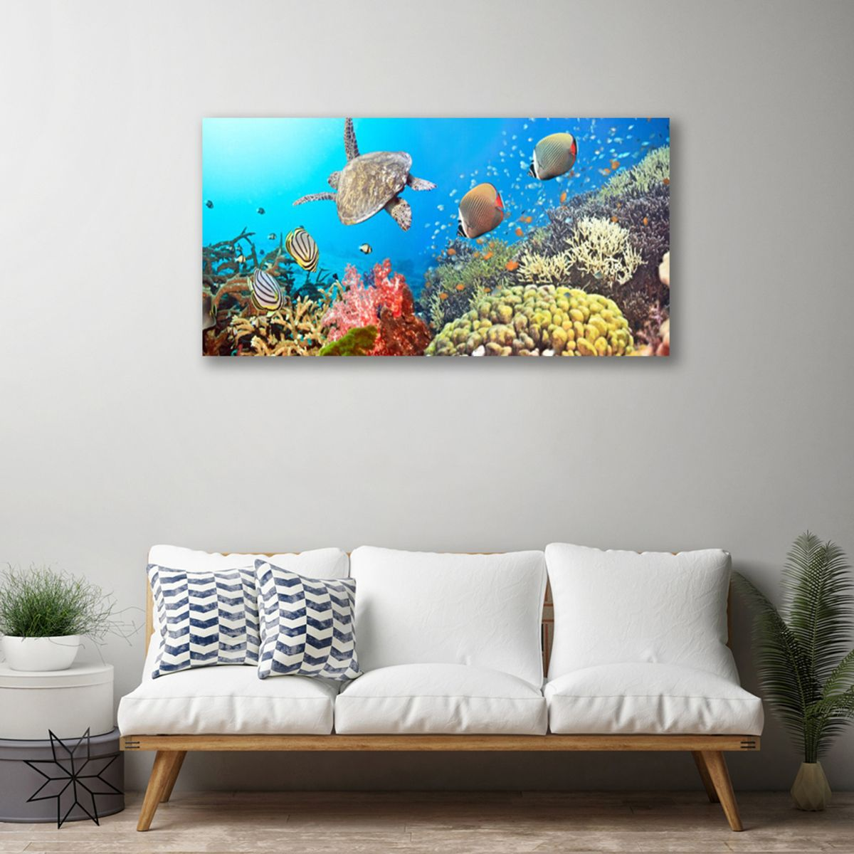 #canvas #canvasart #canvasprint #walldecor #walldesign #walls #murals #coralreef #underwater #summer #summerdecor #livingroomideas