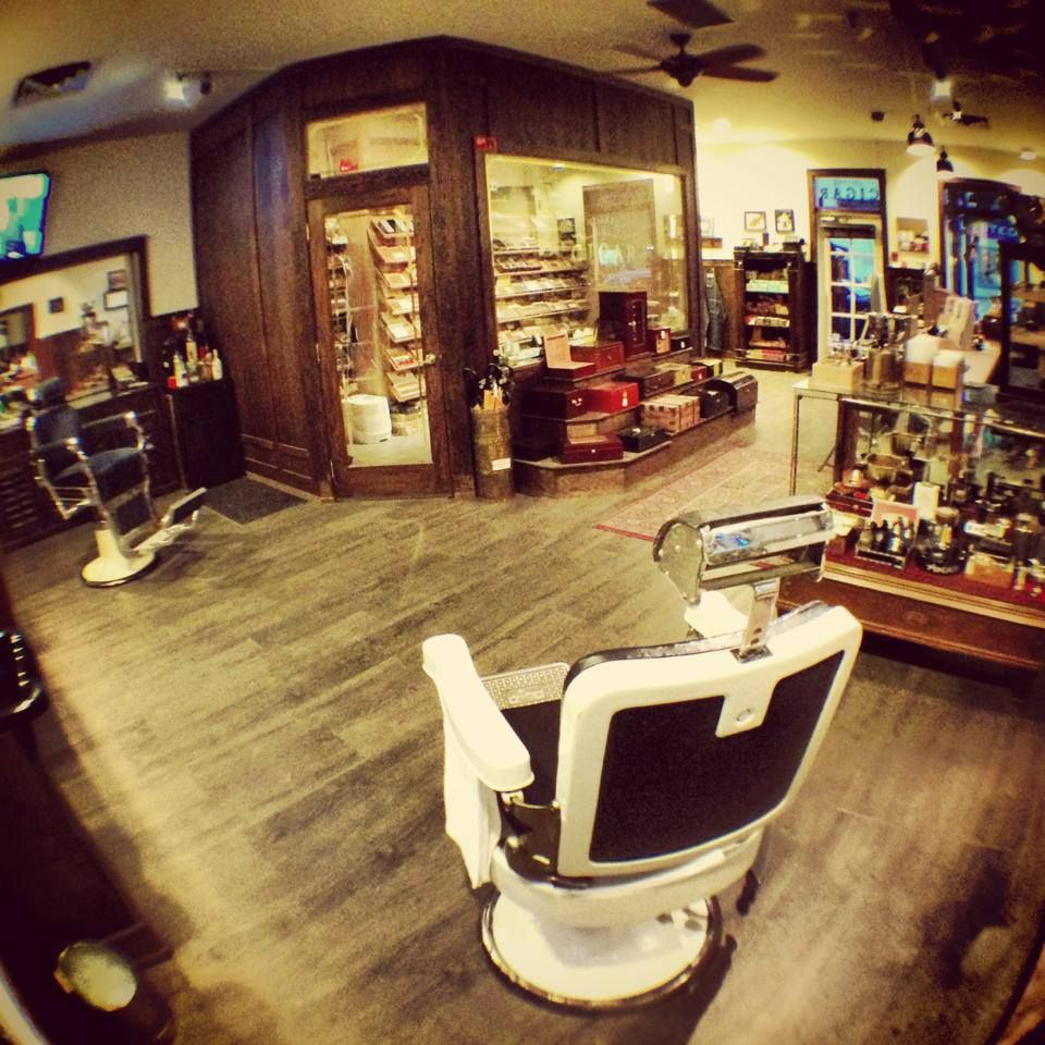 Classic barber shop chairs - Village Cigar Company Barbershop This Shop Is Filled With All Things Cigar Related Including