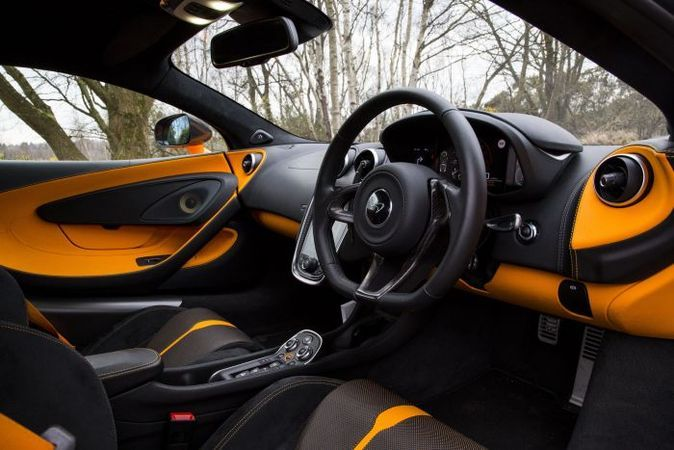 mclaren 570s interior madwhips yellow and black interior. Black Bedroom Furniture Sets. Home Design Ideas