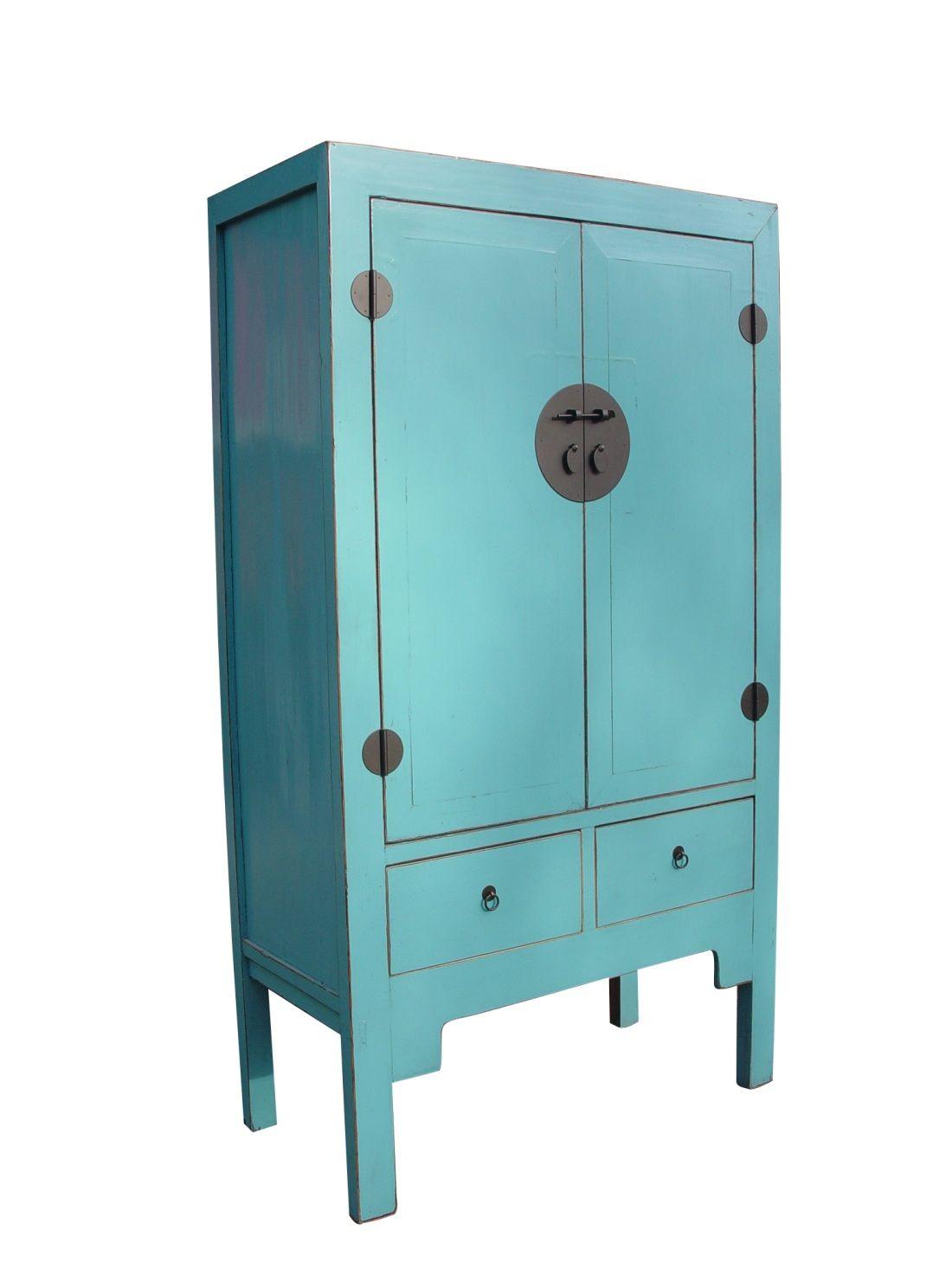 Chinese Kast Kleur In Huis Kast Blauw Meubels Kast