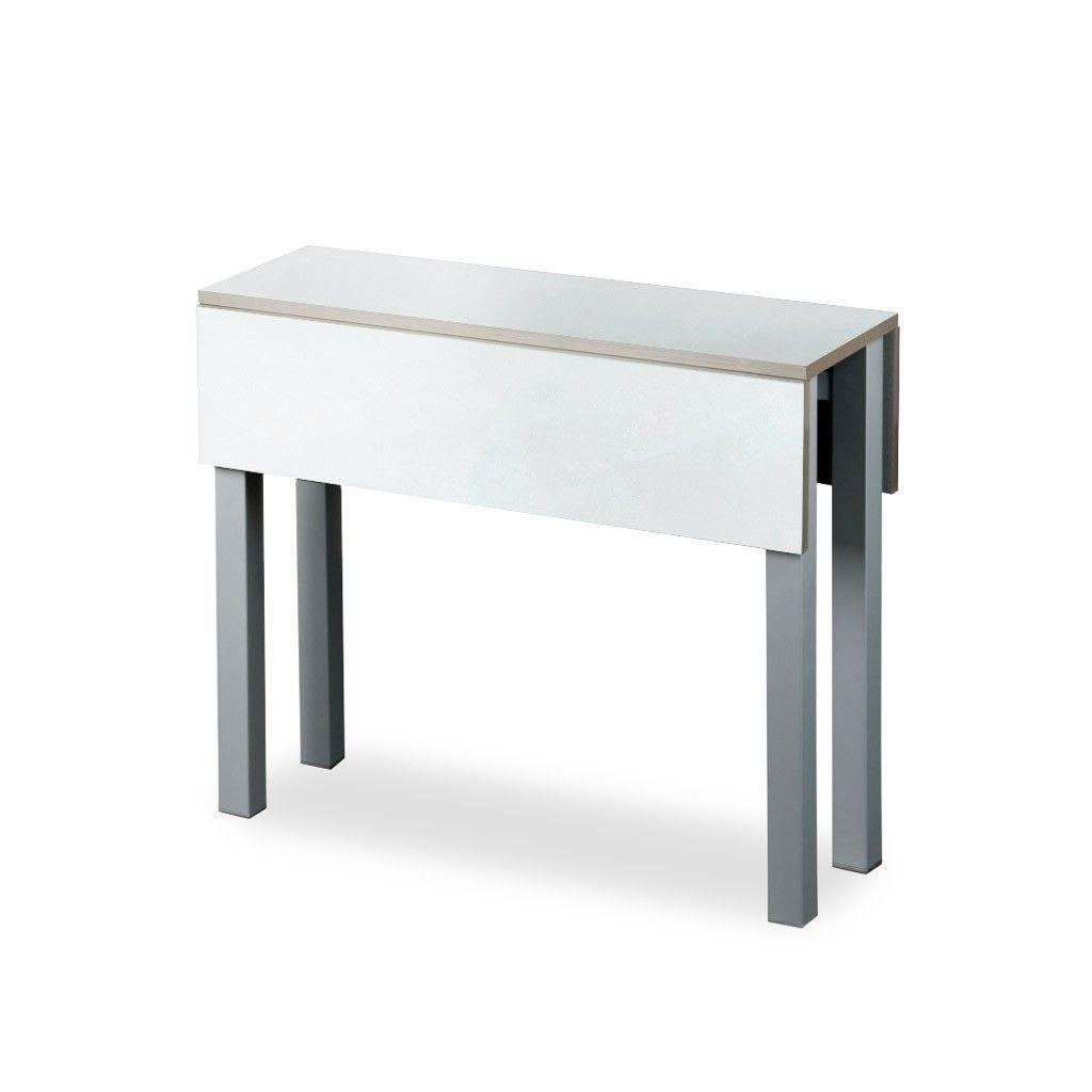 Mesa plegable para cocina modelo belloc en laminado blanco - Mesas de cocina plegables ...