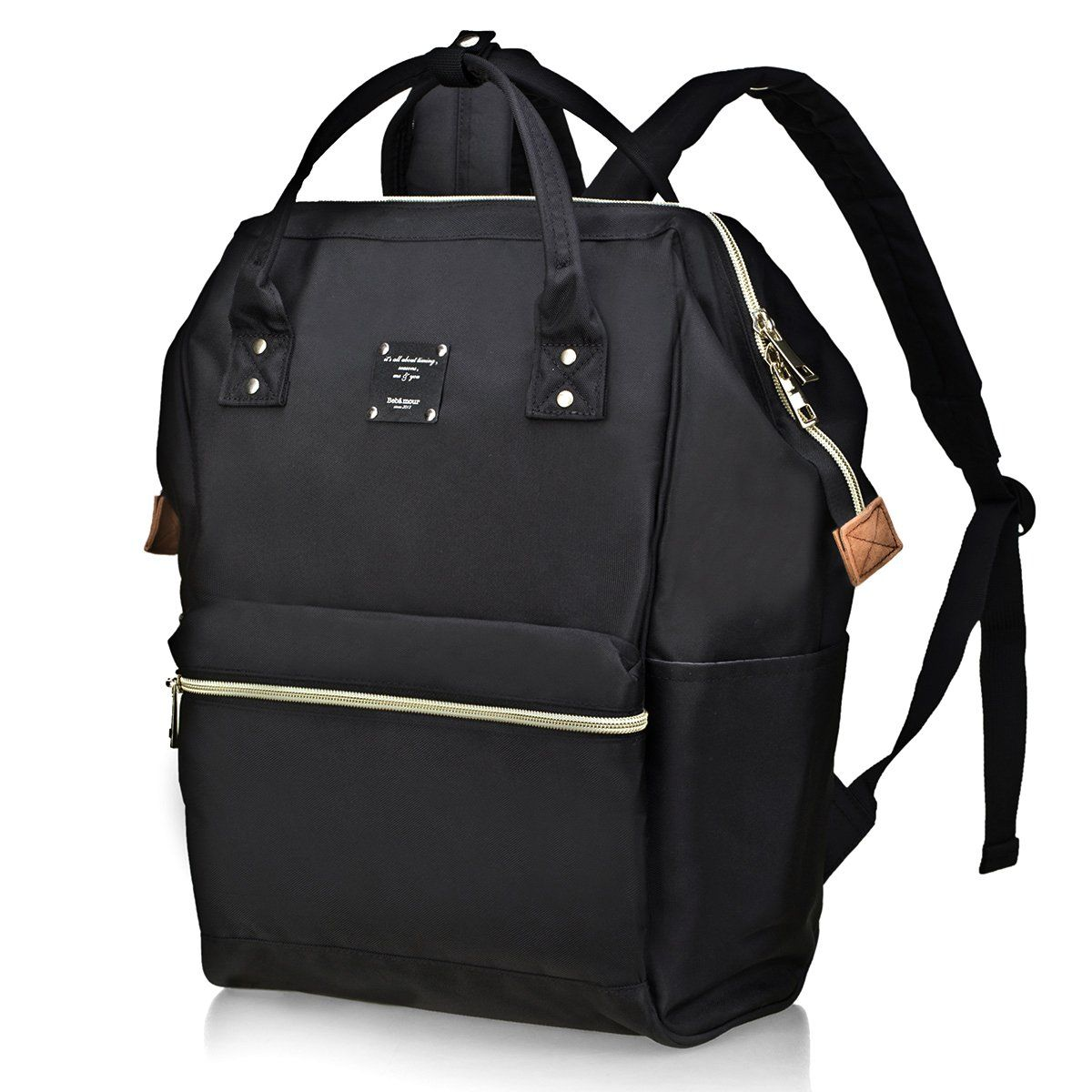 0828fa01ebdc Bebamour Casual College Backpack Lightweight Travel Backpack for Women Men  -Black. Bag dimensions  L