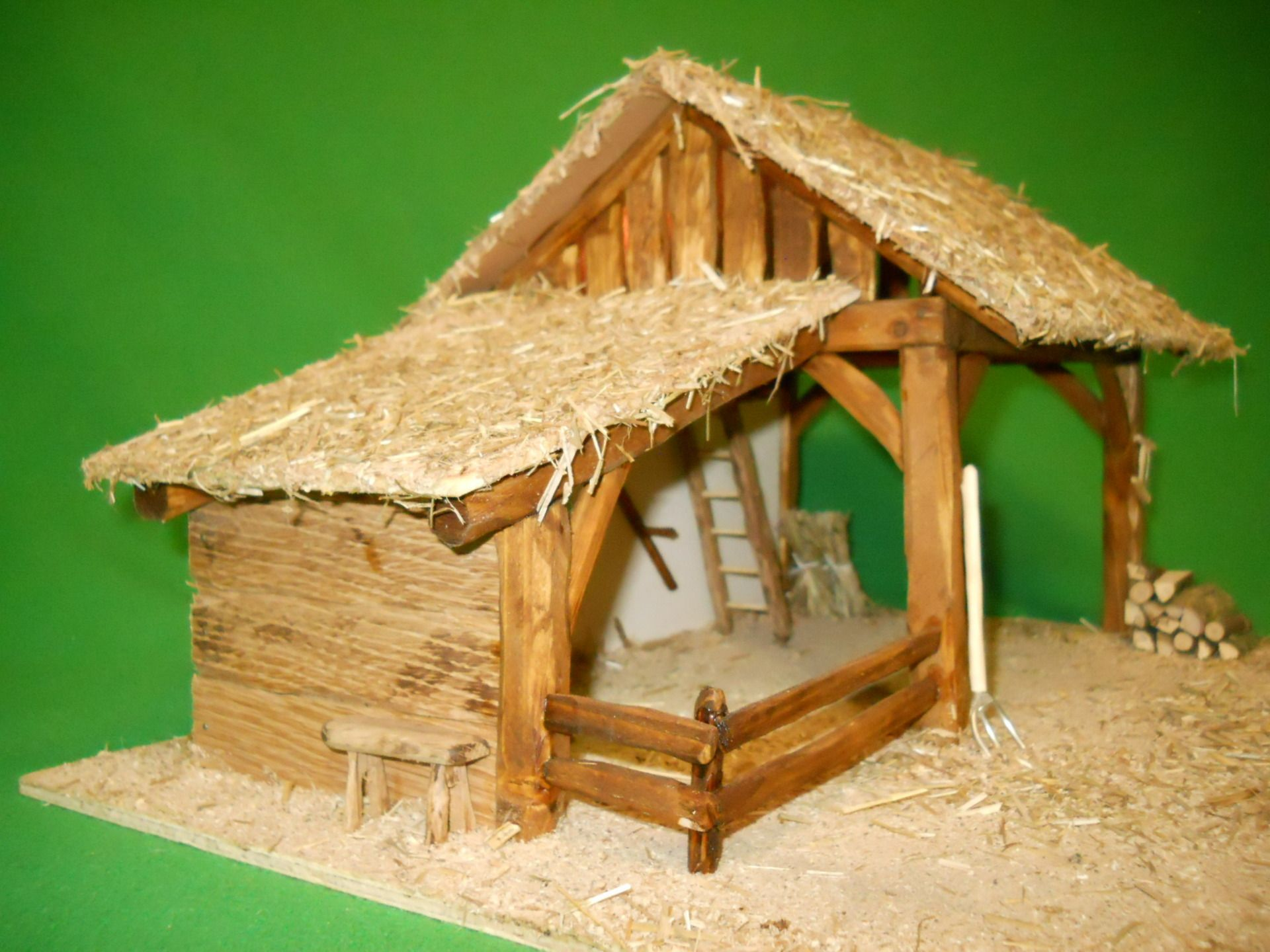 creche de noel en bois pas cher miniature village de no l pinterest cr che de noel cr che. Black Bedroom Furniture Sets. Home Design Ideas
