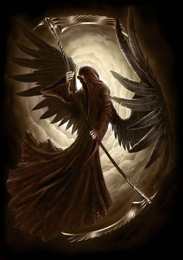 Archangel Azrael   Angel drawing, Black angels and Angel
