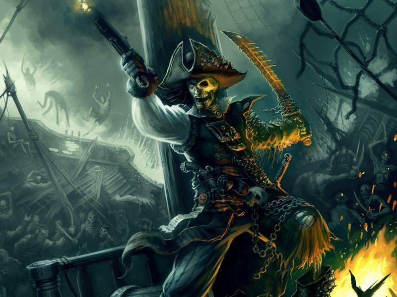 View Pirate Skeleton Fantasy Art PNG