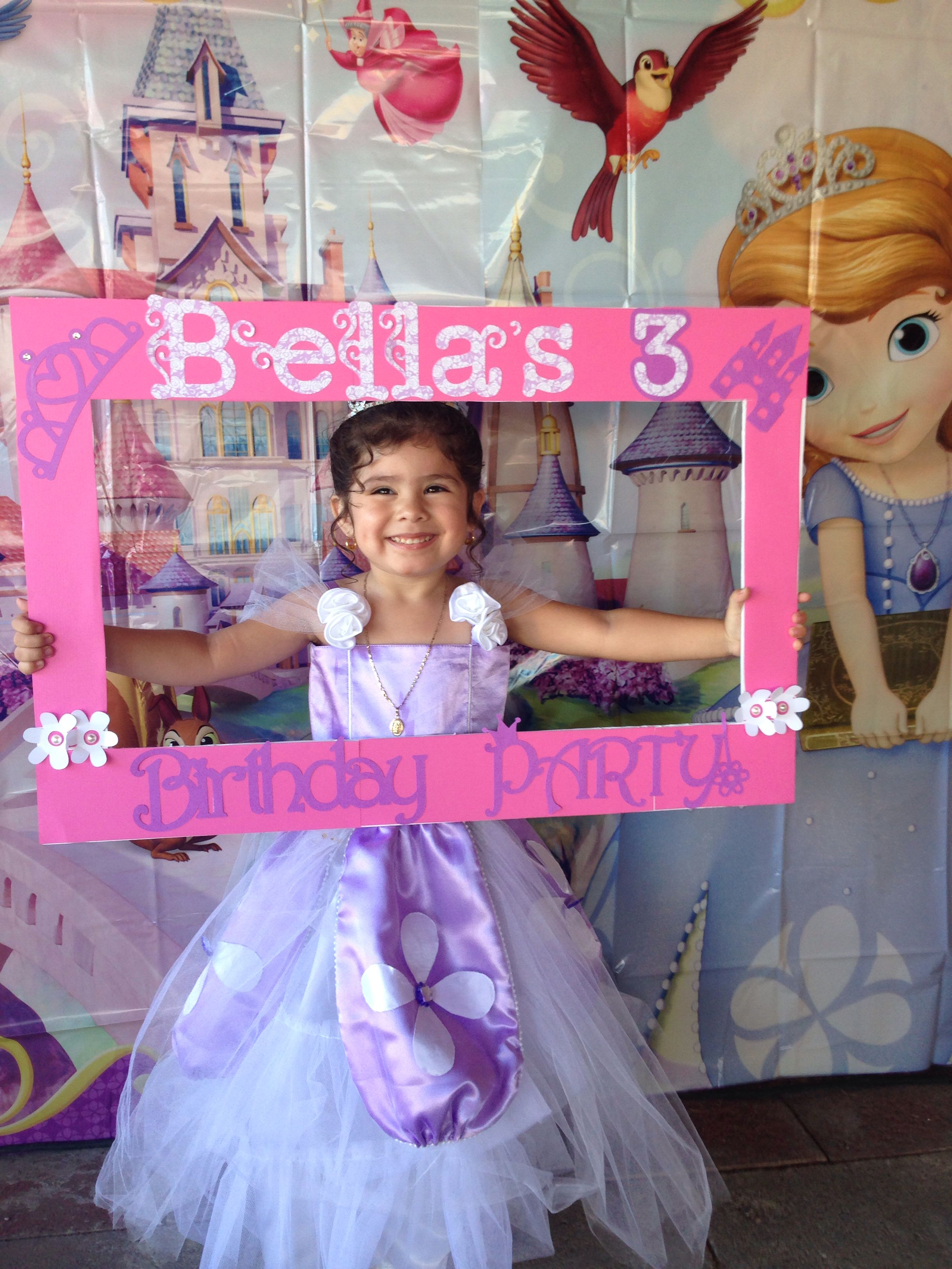 Sofia the first Frame | My girls parties | Pinterest | Sofia party ...