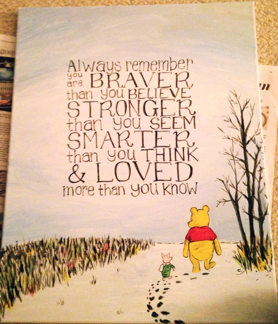 You Are Loved Quotes: Always Remember, You Are Braver Than You Believe, Stronger