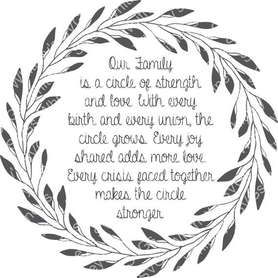 Download Our Family is a circle of strength and love with every ...
