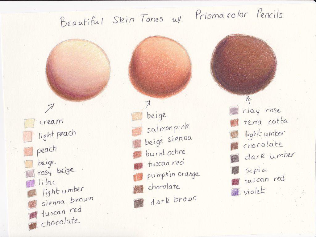 My Prismacolor Skin Tone Color Palette by ArtisticAdventures ...