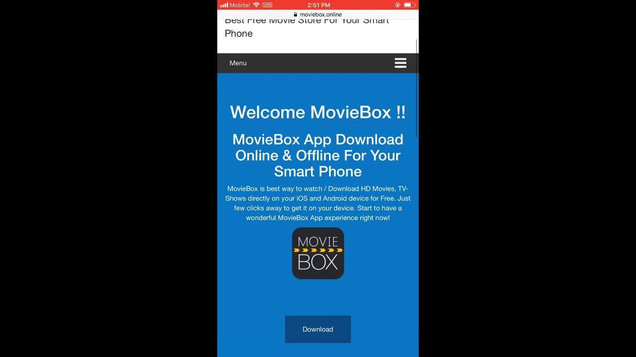 MovieBox Pro VIP Free Download iOS 12.2 No Computer/No