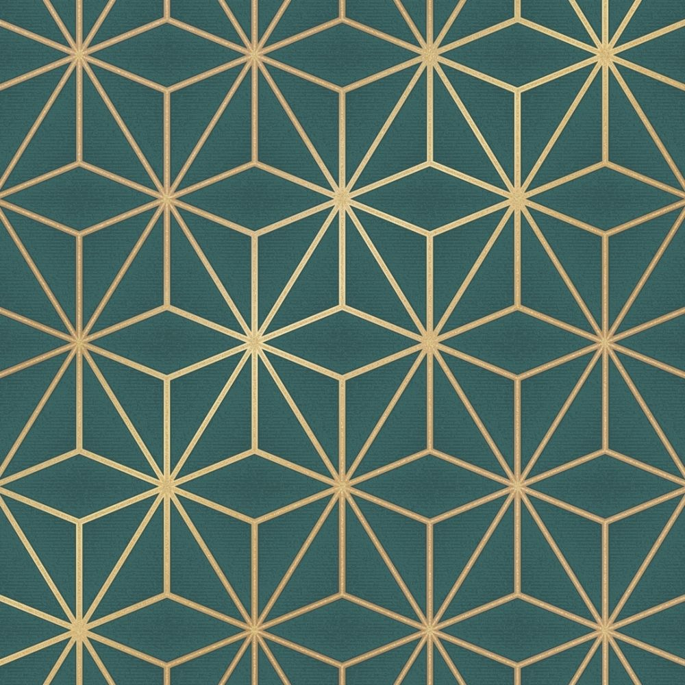 Astral Metallic Wallpaper Emerald Green Gold In 2020 Metallic Wallpaper Geometric Wallpaper Geometric Wallpaper Navy