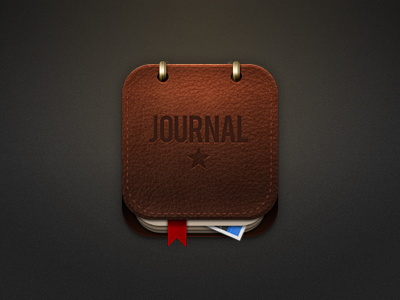 Leather Journal Icon for iOS / Android by Mike Beecham