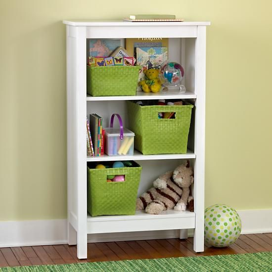 The Land Of Nod Kids Bookcases Kids White Simple Bookcase In