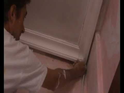 cortar y colocar molduras de escayola en techos cut and fit plaster moldings on ceilings
