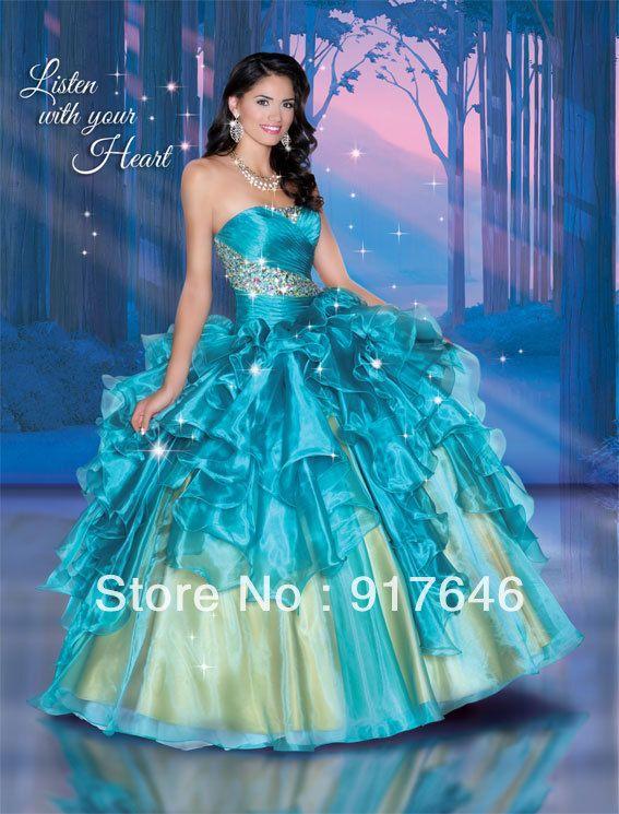 Vestidos De Xv Azul Turquesa 2014 Vestidos De Fiesta De