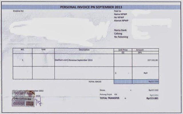 Contoh Surat Invoice  FaisalnGmailCom