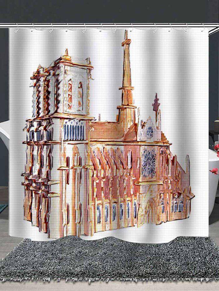 Notre Dame De Paris Painting Print Shower Curtain Ad Sponsored