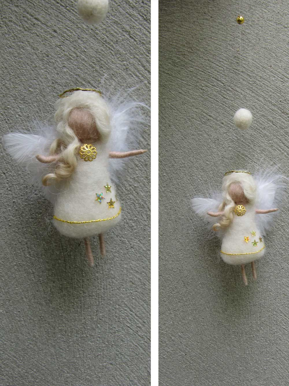 Little Christmas angel, needle felted | Felt | Pinterest ...