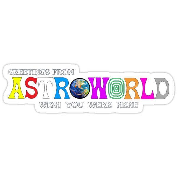 Astroworld Wish You Were Here Sticker Preppy Stickers Iphone Case Stickers Aesthetic Stickers