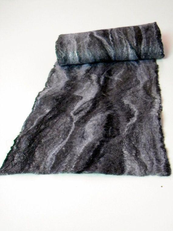 Grijze sjaal Extra lange sjaal wol sjaal Mens Unisex door Allatai