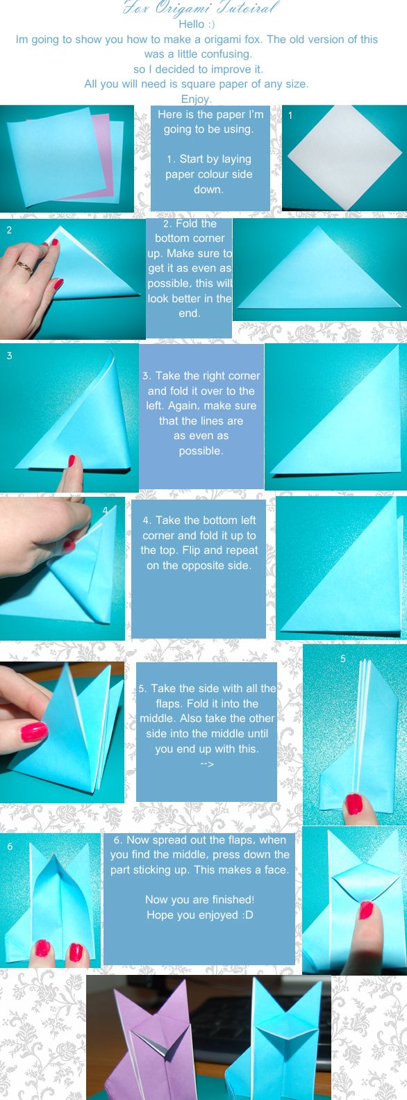 Origami Fox Tutorial By Jalamie On Deviantart Newer Version Advanced Instructions Diagram