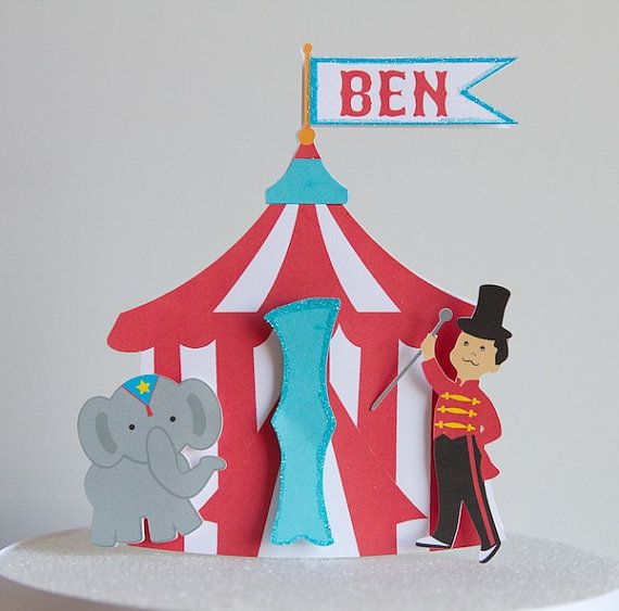 Circus Tent Cake Topper / Centerpiece & Circus Tent Cake Topper / Centerpiece | Carnival Birthday Theme ...