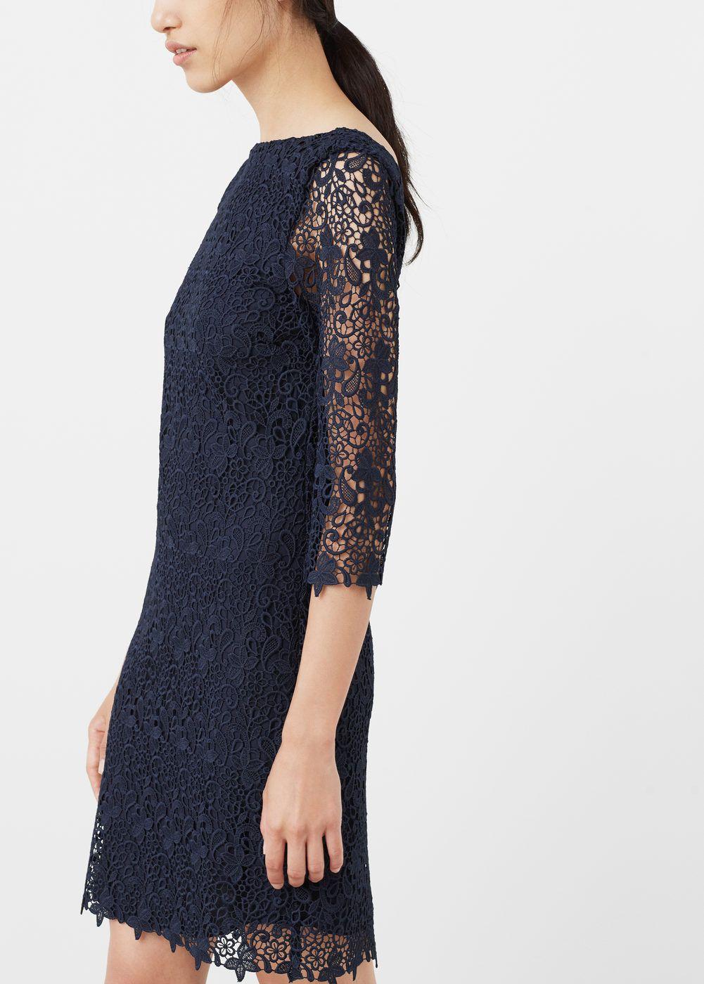 5aaee6dbabcc Vestido guipur - Mujer | compras secretas | Vestidos, Vestido guipur ...