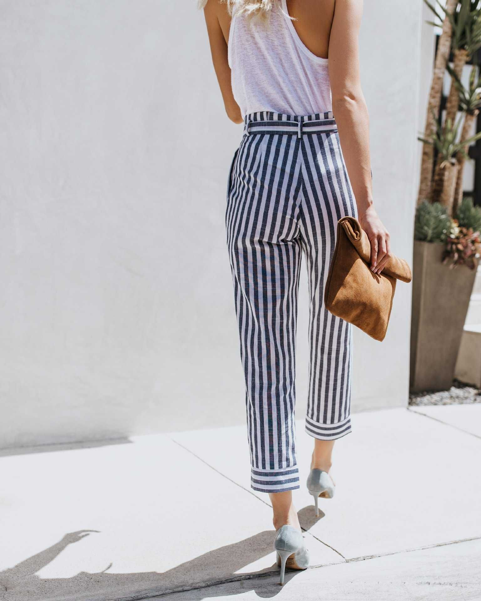 8a5592715ce2ed stay chic with free shipping striped pants for only $20 after.extra 10% OFF  black high waisted tie trousers black and white striped ankle pants tall ...