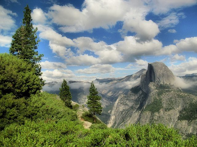Half Dome from Glacier Point by Kristal Leonard, via Flickr