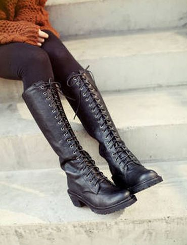 ab84b38ccd2 Korean Style Lace-Up Front Boots for Women